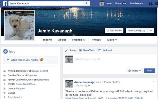 Can you see that saw your Facebook account?