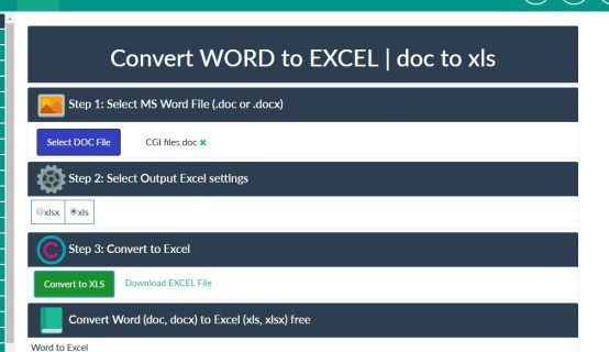 Exactly how to transform Word to Excel