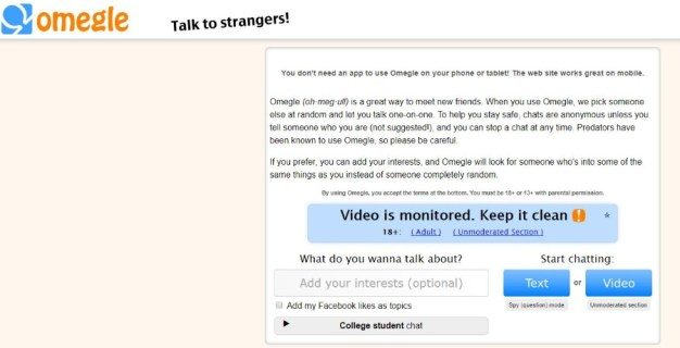 8 websites like Omegle to talk with unfamiliar people