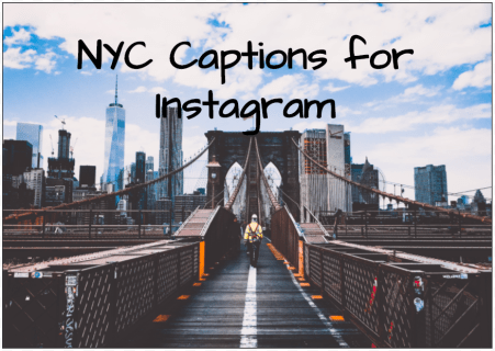 Apple's Large Instagram Captions While in New York City