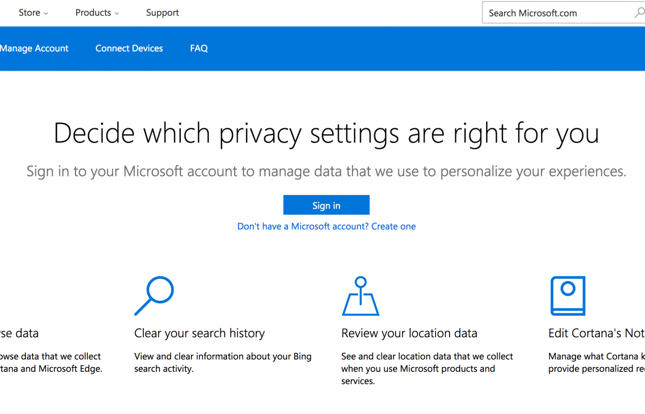 Exactly how to get rid of individual info from Cortana as well as various other Microsoft solutions