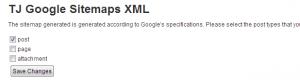 Google Sitemaps XML WordPress Plugin