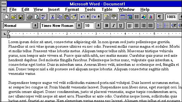 Retro Friday: Microsoft Word 6.0