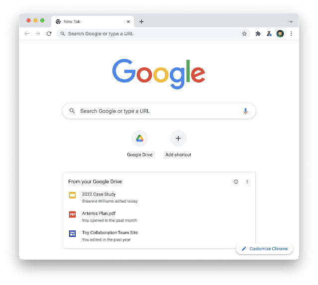 Disable Drive Suggestions on the New Tab Web Page in Google Chrome